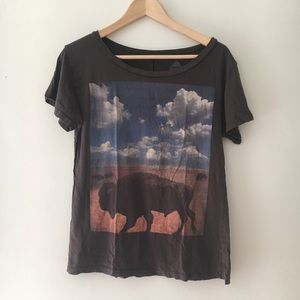 Unique Relaxed Bison Tee